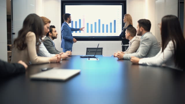 Business meeting 4k.