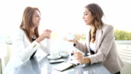 Business Meeting At The Cafè - Two Women