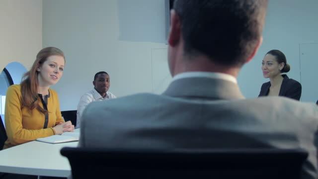Business meeting in board room