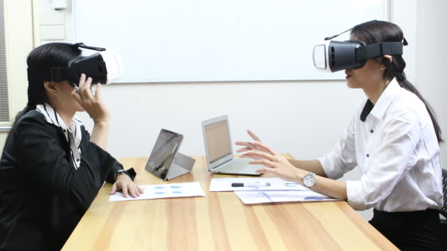 business meeting with vr
