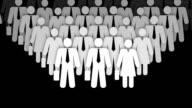 Geschäftsleute Menschenmenge Animation