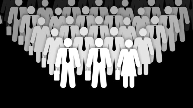 Business People Crowd Animation