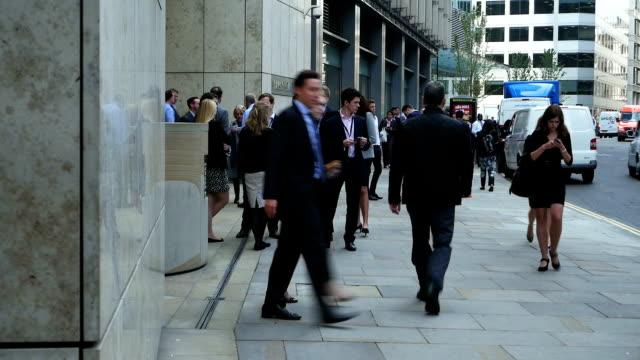 Business-Leute In London der Fenchurch Street
