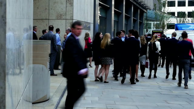 Business-Leute In London der Fenchurch Street (4 k UHD zu/HD)