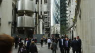 Business People In London Lime Street (UHD)