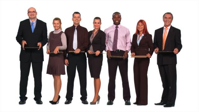 HD: Geschäftsleute, die auf der Suche nach der Arbeit