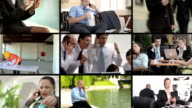 HD MONTAGE: Business People Using Mobile Phones