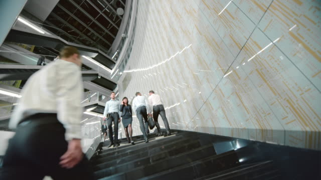 DS Business people walking up and down the stairs