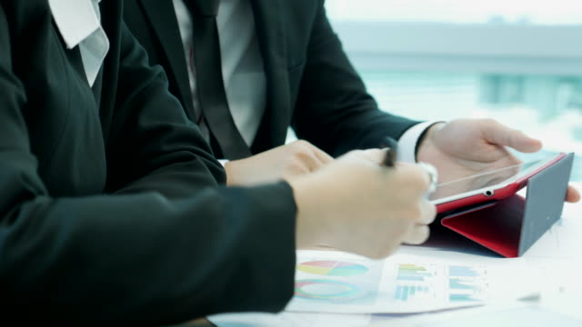Business person discuss on paper work