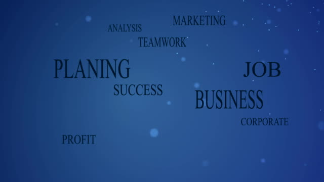 Business related words background