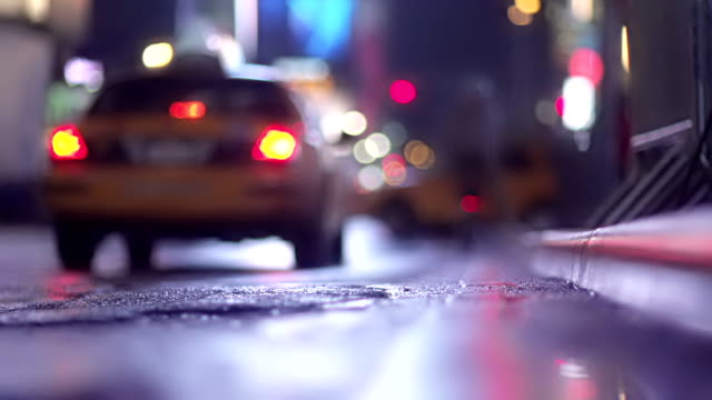 Business Taxi NYC Slow-mo