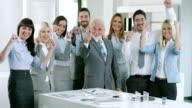 Business-team Feiern