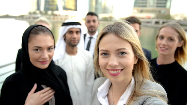 SELFIE: Business team in Middle East