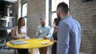 Business team on the coffee break