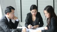 Business team working in casual meeting