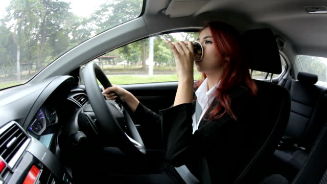 Coffee Opening Driving Fast Car