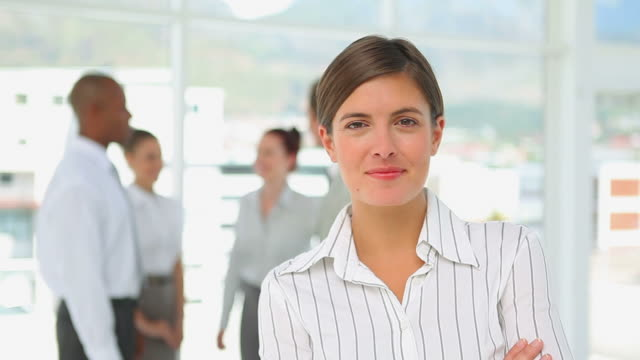 Business woman smiling at the camera