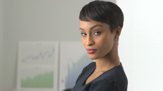 Business Woman Standing In Office Stock Footage Video | Getty Images
