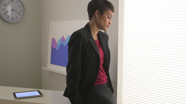 business woman thinking in office