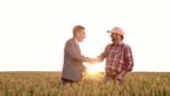 WS-Geschäftsmann und Farmer Abschluss der Vereinbarung