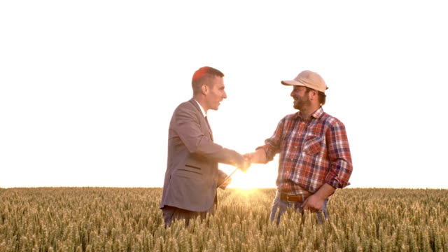 WS Businessman and farmer completing the agreement
