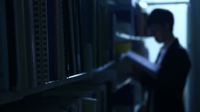 HD : Businessman Browsing in the library