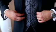 Businessman Dressing Up a Black Suit
