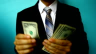 businessman hand hold money