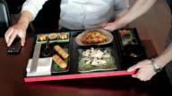 Businessman having lunch at restaurant