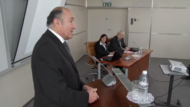 HD: Businessman Having Speech