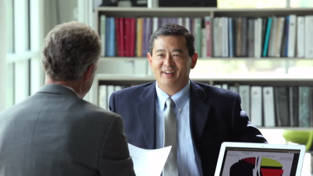 MS PAN Businessman in Interview with Potential Employer / Richmond, Virginia, USA