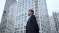 Businessman in office area