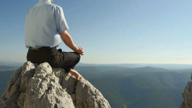 HD: Businessman Meditating In The Nature