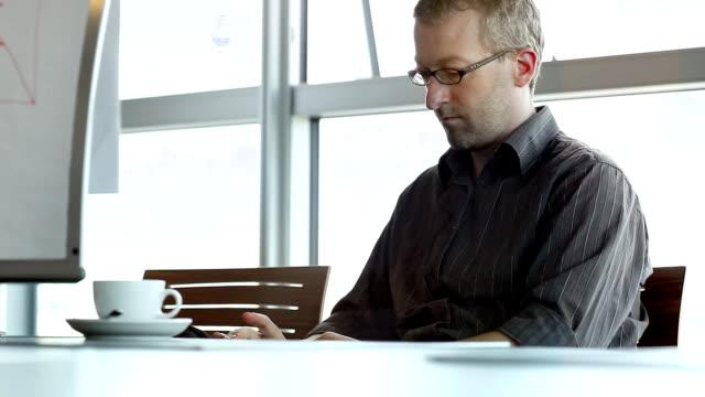 Businessman Mobile Phone Texting