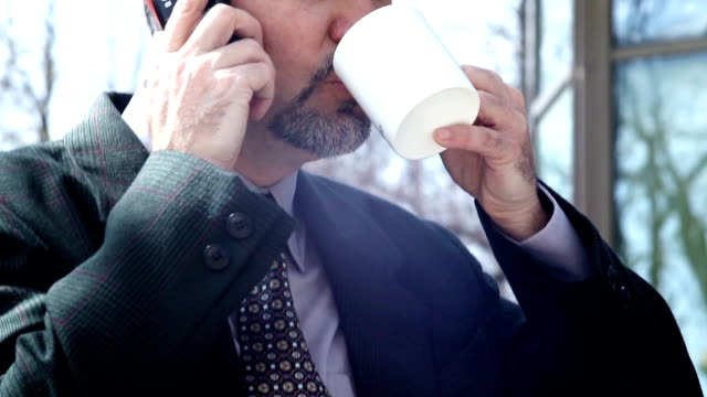 Businessman On A Coffee Break