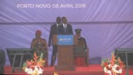 Businessman Patrice Talon is sworn in as Benins new president after winning last months elections in the tiny West African country
