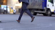HD SUPER SLOW-MO: Businessman Running