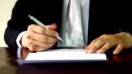 businessman signature