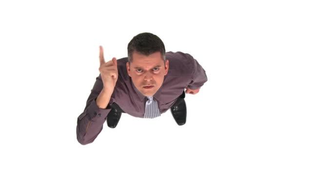 HD CRANE: Businessman Telling Off