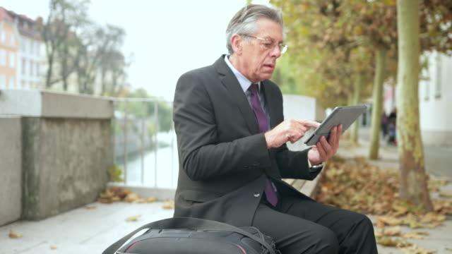Businessman using digital tablet