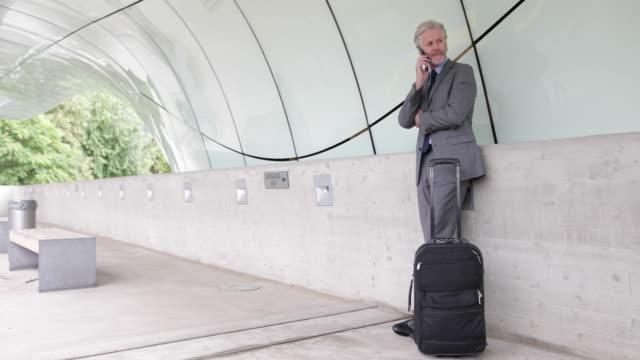 Businessman waiting at an airport terminal