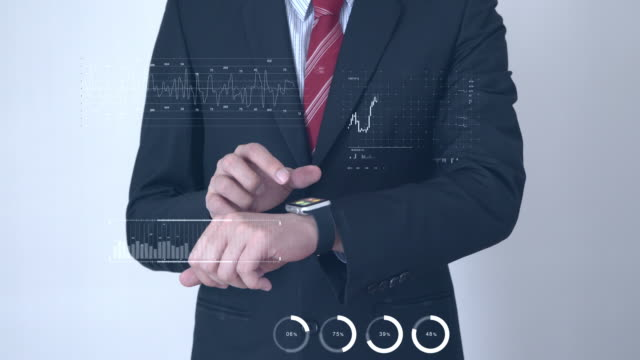 Businessman working on technology interface