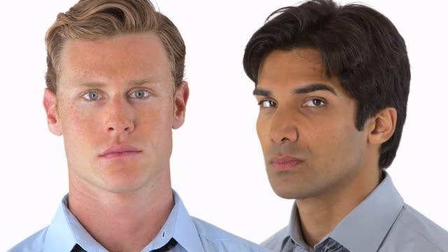 Businessmen face portraits