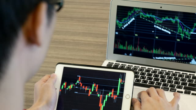 Businessnan Analyzing Technical stock market