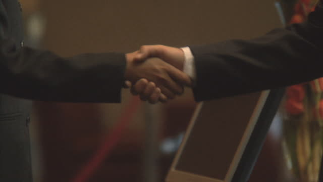 Businesspeople shaking hands, Cape Town South Africa
