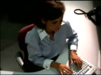 Businesswoman and daughter in office