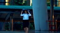 Businesswoman run,Slow motion