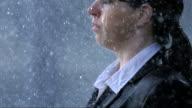 Geschäftsfrau Hand, die Regen