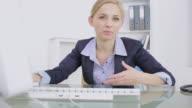 Businesswoman talking to someone
