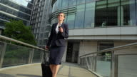 MS POV Businesswoman walking through city / London, UK